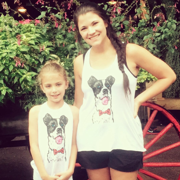 Aubree & her mom rocking their Mulligan Movement tanks at the Savannah City Market!