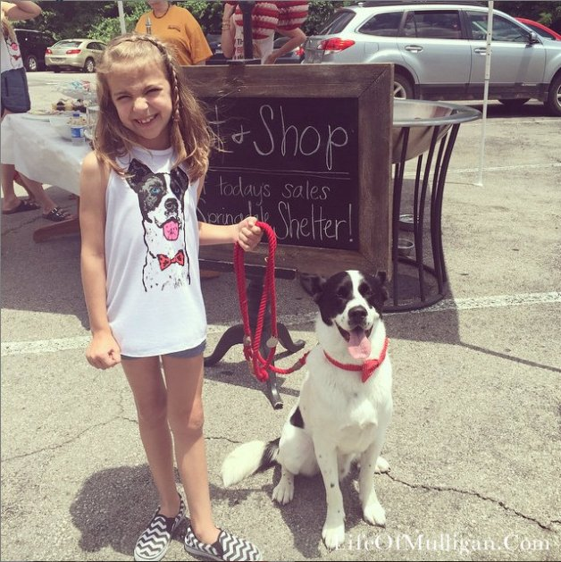 Our new friend, and Instagram follower, Aubree! How cute is she in her Mulli tank!