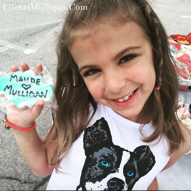 I especially love when kids get to see & learn about the shelter! How cute is Aubree in her Mulligan tank with her Krauft cookie!!